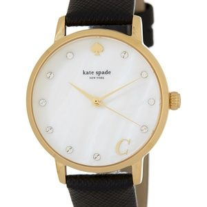 "Kate spade *Brand New* monogram ""C' leather watch"